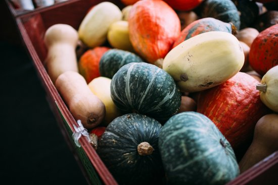 แอบบอตส์ฟอร์ด, แคนาดา: Varieties of squash, grown in Lepp Farm Market's Abbotsford Farms