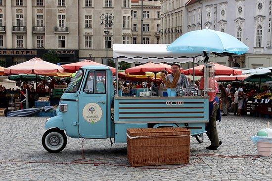 Brno, Republik Ceko: Lody smakują wybornie