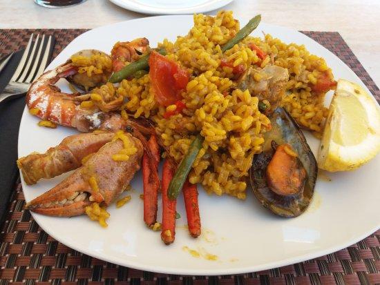 Caimari, Ισπανία: detalle plato de paella.