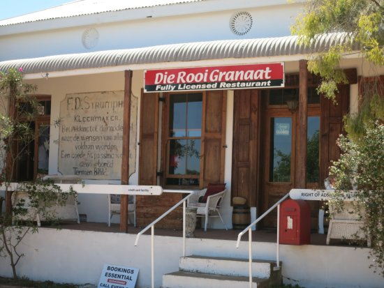 Yzerfontein, Sudáfrica: Eingang Restaurant Aurora