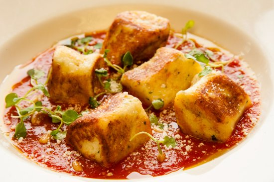 Big Indian, NY: housemade ricotta gnudi with tomato puree, parmesan & pinenuts
