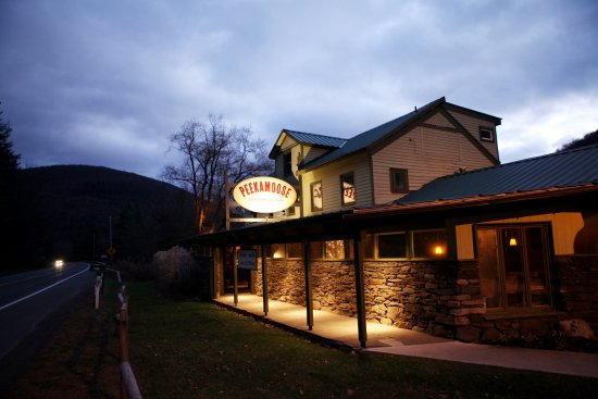 Big Indian, NY: exterior winter night