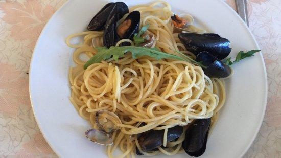 Montecorice, Italy: Spaghetti ai frutti di mare