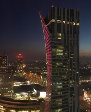 InterContinental Hotel Warsaw: Night view from room
