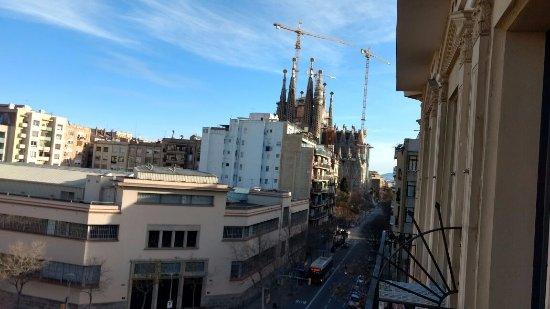 Hostemplo Sagrada Familia: Vista da sacada