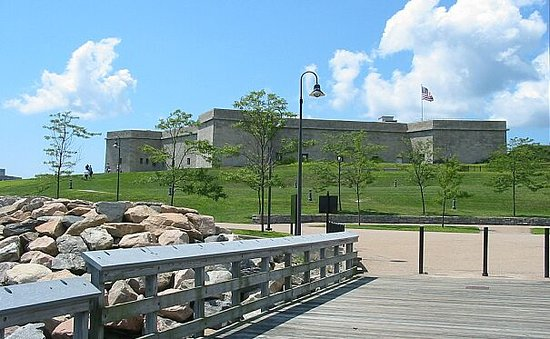 New London, CT: Fort Trumbull State Park, Visitors Center & Museum, Conference Center and Fishing Pier.