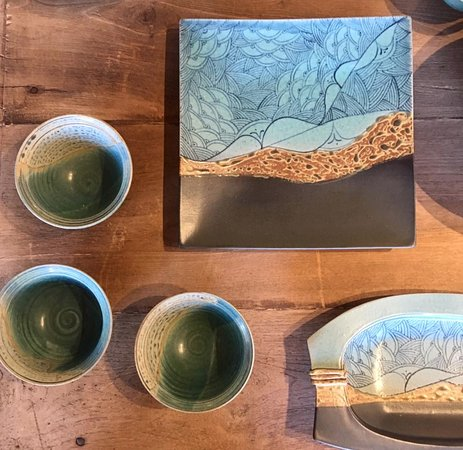 Solana Beach, Californië: Handcrafted serveware