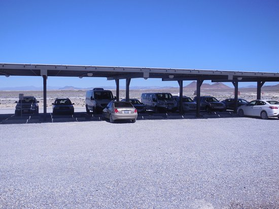 Amargosa Valley, NV: Parking at Visitors Center