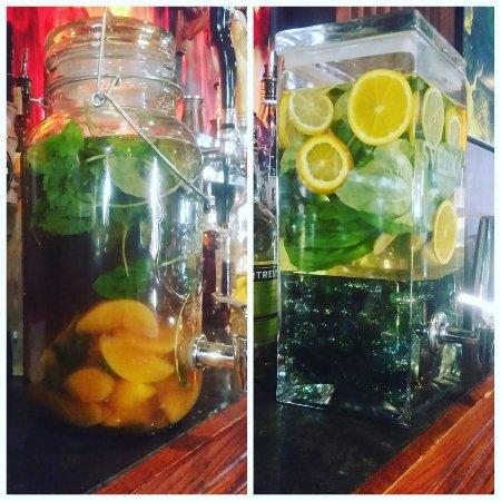 Riverton, WY: Peach Bourbon Tea Smash and a Basil Gin Lemonade.