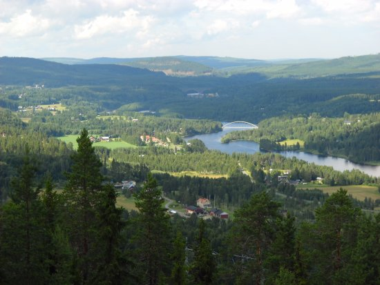 Sollefteå, สวีเดน: View inland from viewpoint at OSterasens Halsohem. Towards Forsmo