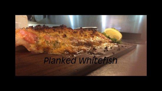 Grawn, MI: Planked Whitefish (seasonal)