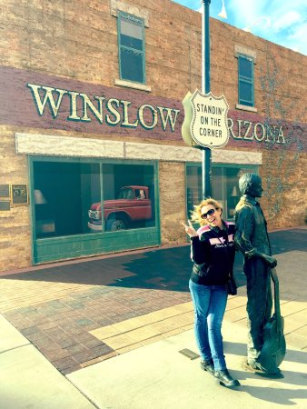 Words can't describe what it felt like to Stand on THE Corner in Winslow, AZ!!!
