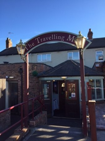 The Travelling Man: Rear entrance to the pub.