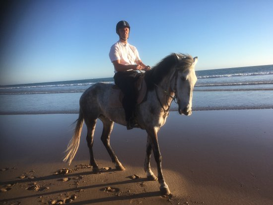 Tamraght, Marocko: Lovely ride on the beach. We were very impressed both with the horses, stables and the staff