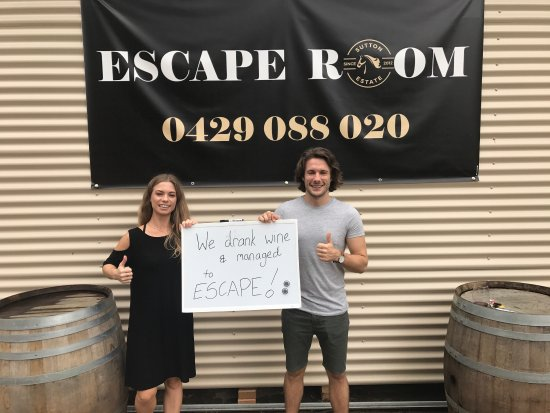 "Pokolbin, Australien: Thank you Emma and Kris for visiting us and experiencing the escape room. Well done on your ""esc"