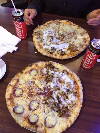 Offenbach, Germany: The pizzas.