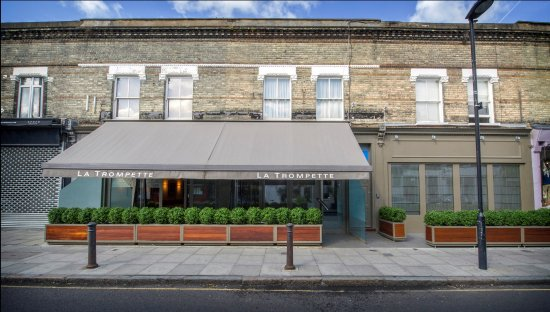 Photo of French Restaurant La Trompette at 3-7 Devonshire Road, London W4 2EU, United Kingdom