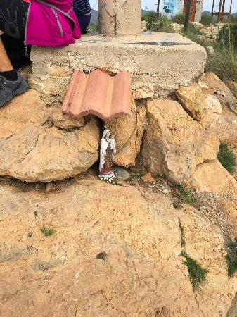 Isla Plana, Испания: Madonna funnen på bergstopp