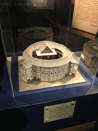 Shakespeares Globe Theatre Model In Exhibit Hall