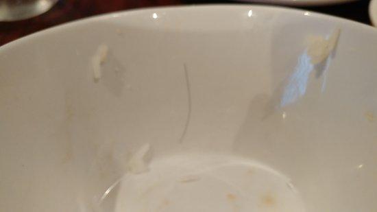 Grimsby, Canadá: Hair in my rice bowl