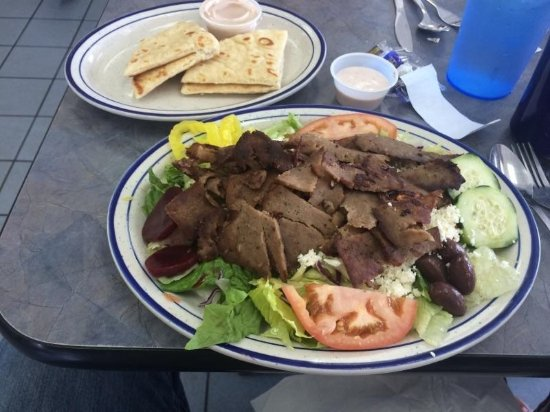 Adrian, MI: Gyro Salad at Papa's Coney Island