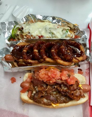 Photo of American Restaurant Pink's Hot Dogs at 709 N. La Brea Ave., West Hollywood, CA 90038, United States