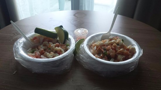 Bimini: Conch and lobster salad! Yum!