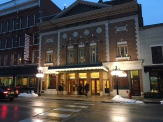 Paramount Theater: Exterior evening image