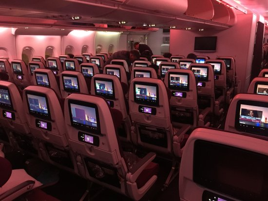 The Interior Of A380 Economy Class A Cabin At The Rear Picture Of
