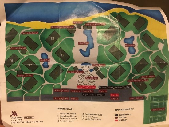 Map of grounds - Picture of St. Kitts Marriott Resort & The Royal ...
