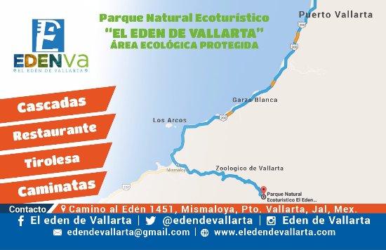 El Eden de Vallarta: Mapa de como llegar