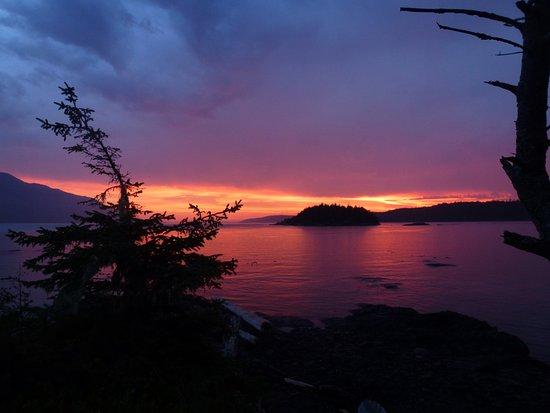 Telegraph Cove, Canada: Another sunset on Little Sophia.