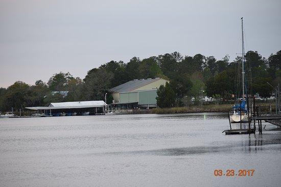 Shell Island Fish Camp: View of Fish Camp Marina from Manatee Park