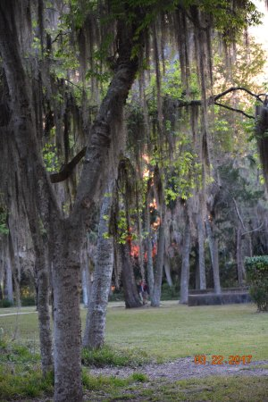 Saint Marks, FL: Sunset at San Marcos Park (around the corner from Manatee Park)