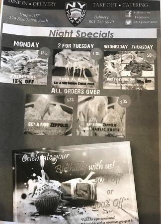 Draper, UT: Nightly specials