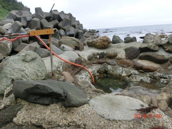 Rausu-cho, Japan: 海岸の天然温泉