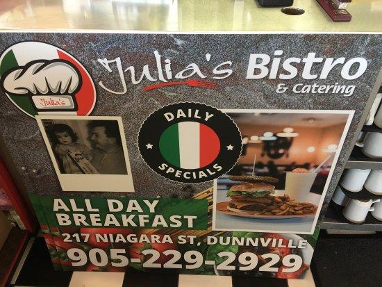 Dunnville, Canada: Julia's Bistro