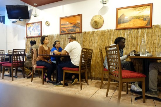 Interior picture of blue nile african restaurant