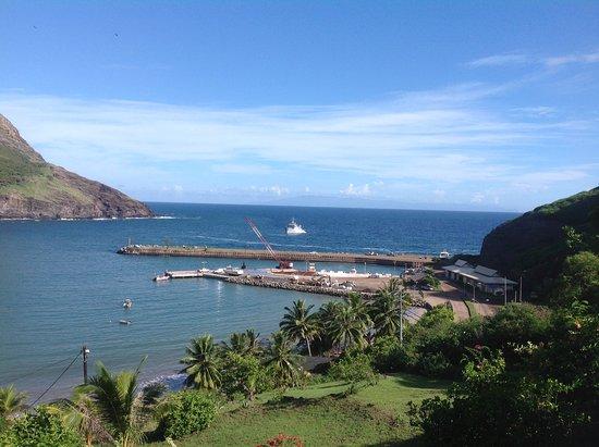 Ua Pou, Γαλλική Πολυνησία: Vue du restaurant