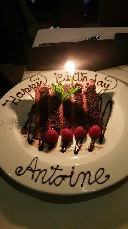 Mastros Steakhouse Birthday Cake