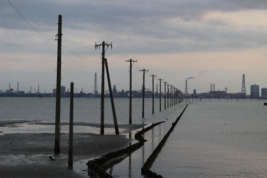 Kisarazu, ญี่ปุ่น: 海中電信柱