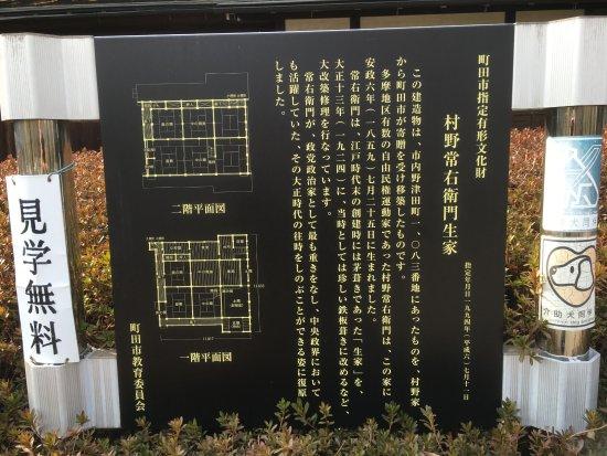 Machida, Japón: 古民家の案内板