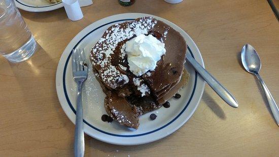 Sterling, VA: Chocolate Chocolate Chip pancakes.