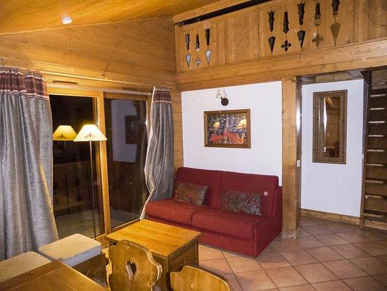 Saint-Martin-de-Belleville, Fransa: Woonkamer, 8-persoons appartement met tussenverdieping