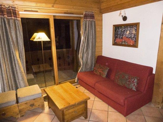 Saint-Martin-de-Belleville, Fransa: Krappe zithoek, 8-persoons appartement met tussenverdieping