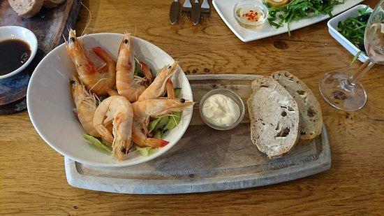 Crab & Winkle Restaurant: Prawns for starter
