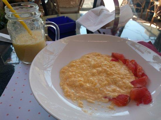 One of few breakfast spots; cost effective; definitely yummy!