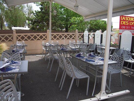 Restaurant la Source des Lys : terrasse