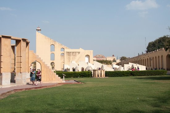 Jantar Mantar: view of fort on skyline