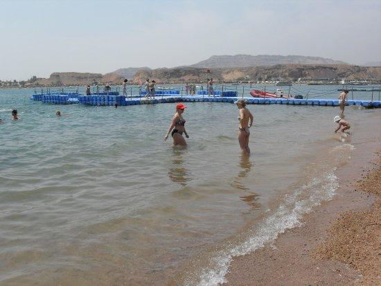 Dessole Seti Sharm Resort : пляж и пирс отеля